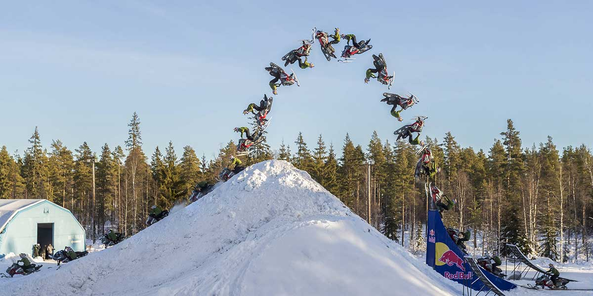 Video: Freestyle snowmobile rider just landed a historic double back flip