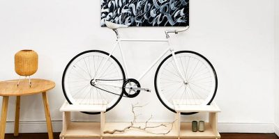 Clever furniture doubles up as bike rack for small apartments