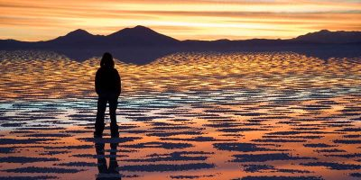 Mystifying salt flat in Bolvia transforms into a giant mirror