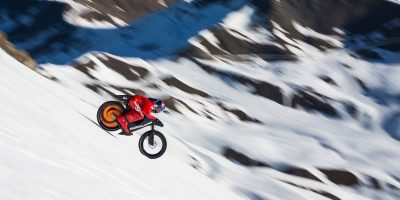 Eric Barone shatters world speed record on mountain bike at 141mph