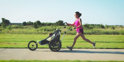 The JogAlong baby stroller turns your school commute into a fitness workout
