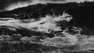Epic black and white film shows big wave surfing at its most dramatic