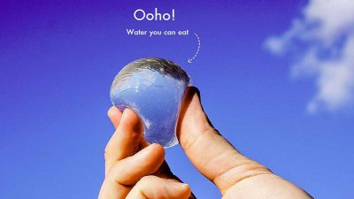 Ooho: The edible, plastic free water bottle