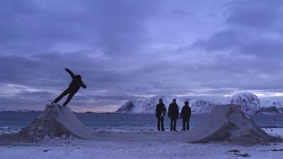 Four skateboarders roam the frozen beaches of Norway in this stunning 8 minute film