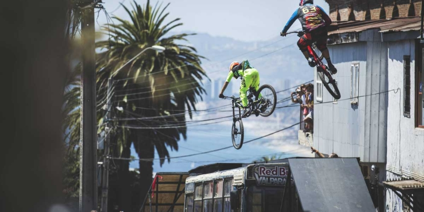 Watch Tomas Slavik ride one of the world's most savage urban downhill tracks and choose your viewing angle