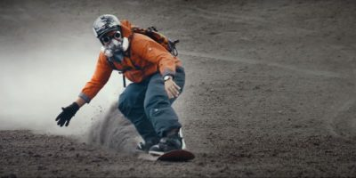 Pro freeriders take snowsports to new level by riding one of the most active volcanoes in the world