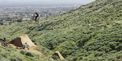 Mountain bike enthusiast hand-builds his own private freeride course