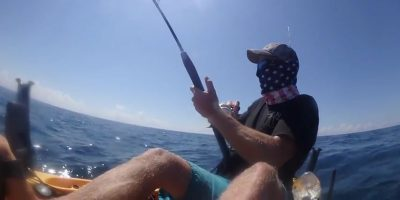 Kayak fisherman gets dragged at speed by hooked 225kg black marlin