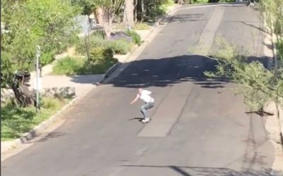 Skateboarder hits 43 mph on a tiny retro skateboard