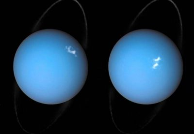 Auroras light up Uranus in new hubble telescope photos