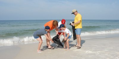A woman is inspiring the next generation to clean up our beaches in a very clever way