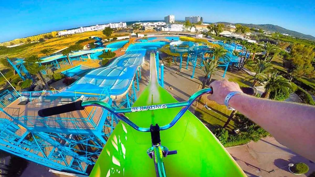 Riding An Abandoned Water Park On A Bmx