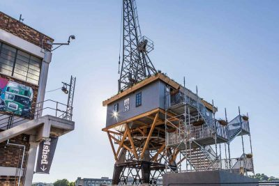 Staying a night in the world's first treehouse on a crane