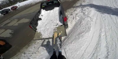 No chairlift? Skier creates make shift lift from truck