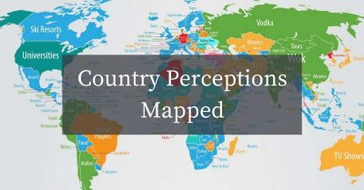 What people associate every country in the world with, according to Google