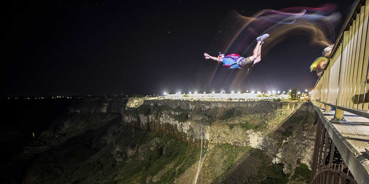 Thrill seeker smashes world record after completing 63 BASE jumps in 24 hours