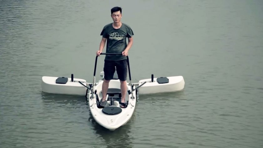 This stand up kayak is every fisherman 39 s dream for Fissot fishing kayak
