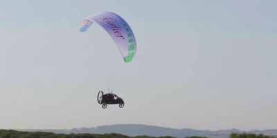 Man pilots his own flying car across the English Channel