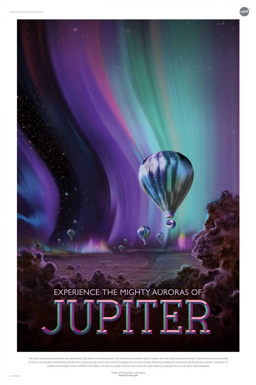 NASA poster promoting space travel to Jupiter