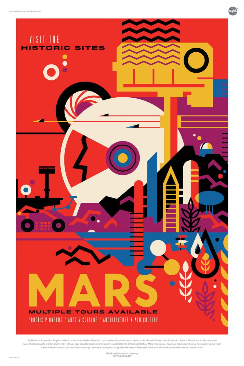 NASA poster promoting space travel to Mars