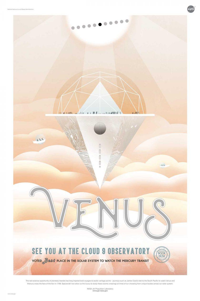 NASA poster promoting space travel to Venus