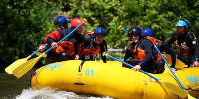 F1 drivers spotted white water rafting ahead of this weekend's Canadian Grand Prix
