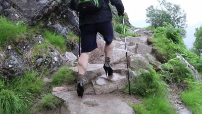 Student attempts to climb UK's tallest mountain…in a pair of five inch stilettos [Video]