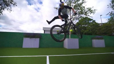 Danny MacAskill plays a game of tennis at Wimbledon using his bike [Video]