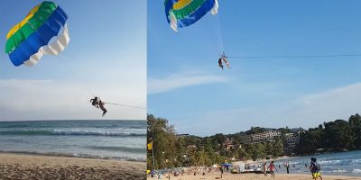 Parasailing operator does the unthinkable to guide unsuspecting tourist back to land