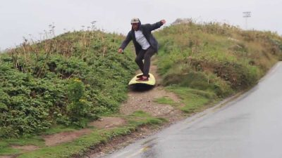 Experimental surfers swap waves for the streets and footpaths of Newquay [Video]