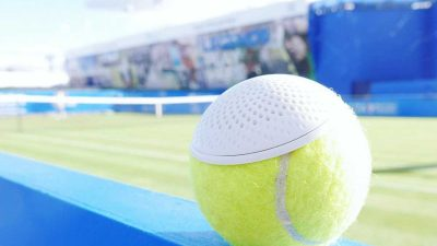 Used Wimbledon tennis balls turned into innovative speakers
