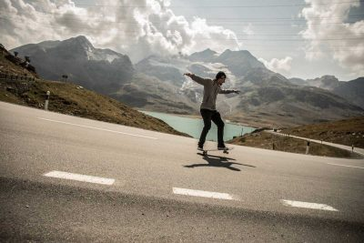 Swiss skateboarder breaks world record for longest manual on a street skateboard