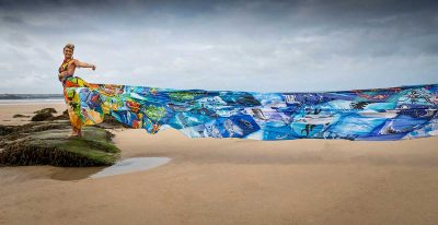 100 body boards abandoned on UK's beaches turned into art