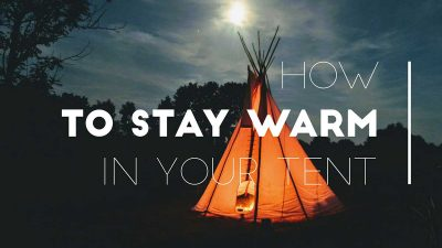 How to safely heat your tent this winter
