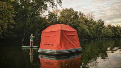Smithfly's inflatable water tent promises a camping experience like no other