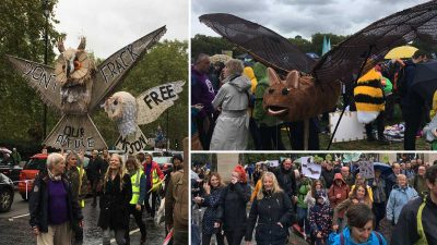 Thousands take part in 'The People's Walk for Wildlife' calling for an end to the 'war on wildlife' in the UK
