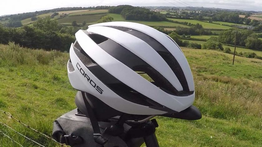 Side view of the Coros SafeSound Road helmet