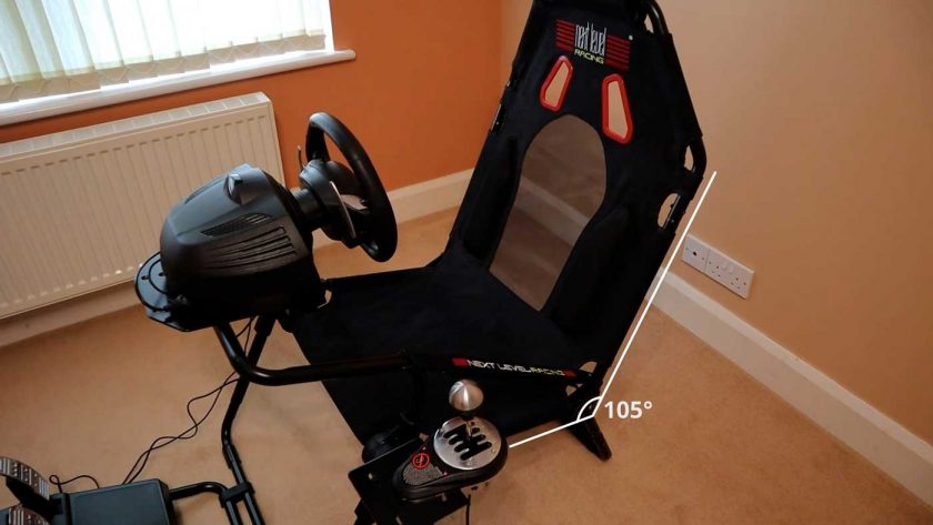 Next Level Racing GT Lite seat recline angle