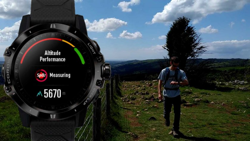 Using the Coros Vertix altitude performance mode while hiking
