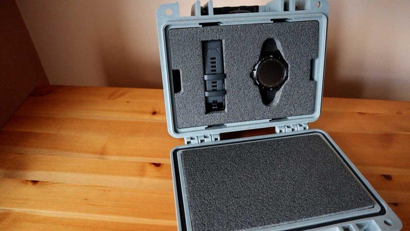 Coros Vertix packed in its flight case