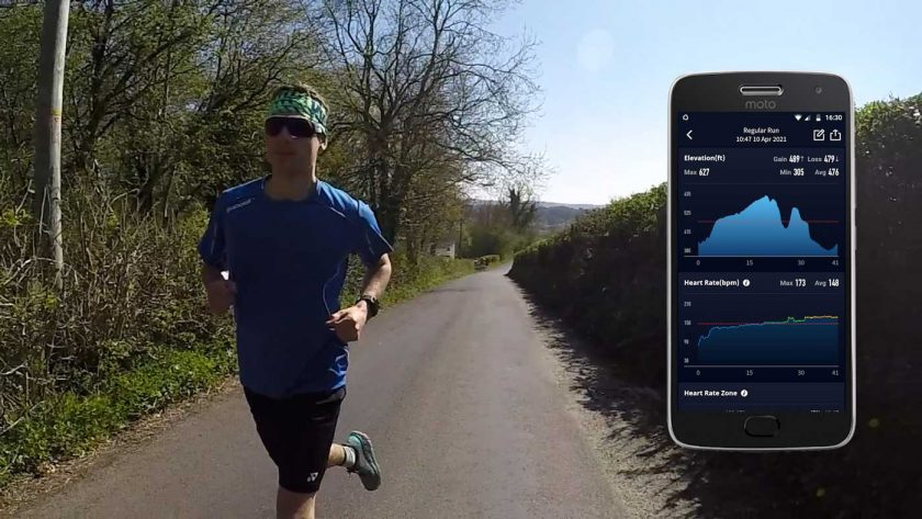 Heart rate data recorded by the Coros Vertix