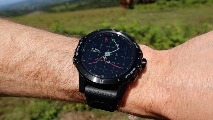 Breadcrumb trail navigation on the Coros Vertix GPS adventure watch