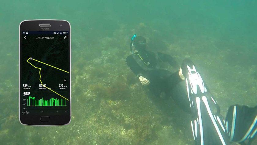 Using the Coros Vertix open-water swim mode to track snorkelling
