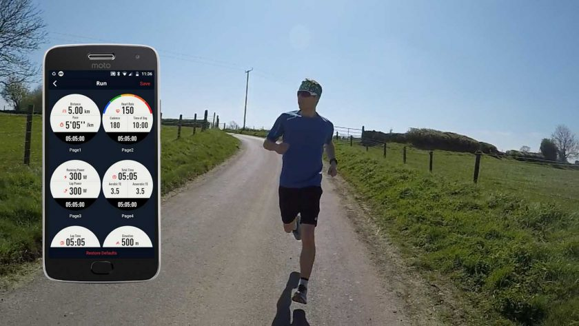 Adjusting the workout data pages of the Coros Vertix in the Coros app