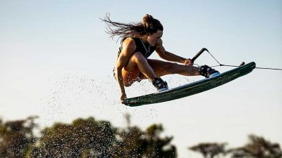 Meagan Ethell wakeboarding