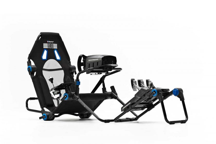 Next Level Racing F-GT Lite iRacing edition cockpit in the formula driving position