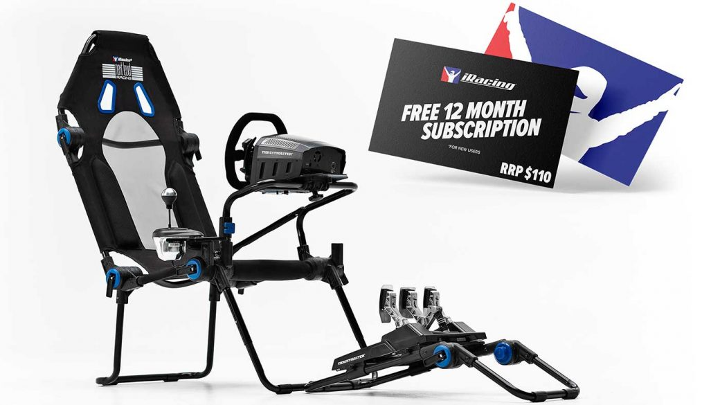 The Next Level Racing F-GT Lite iRacing edition cockpit comes with free 12-month iRacing membership