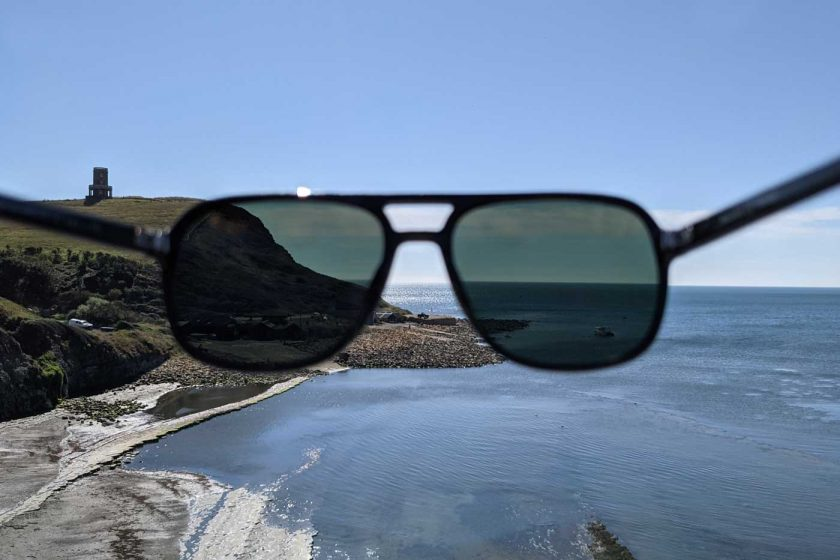 Looking through the polarised lenses of the Vallon Howlin' sunglasses